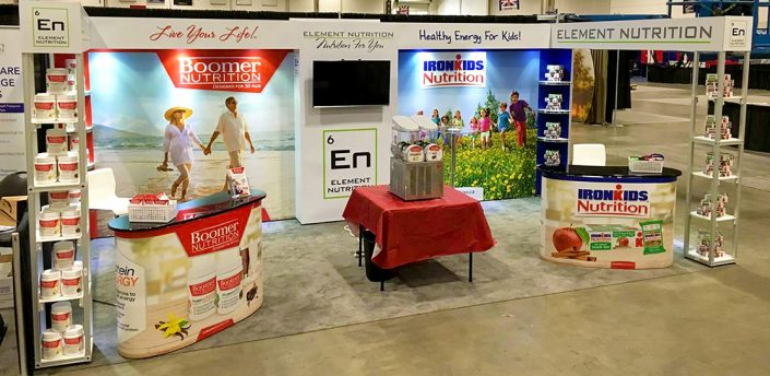 Exhibition Stand Elements : Element nutrition next xpo convertible exhibition stands